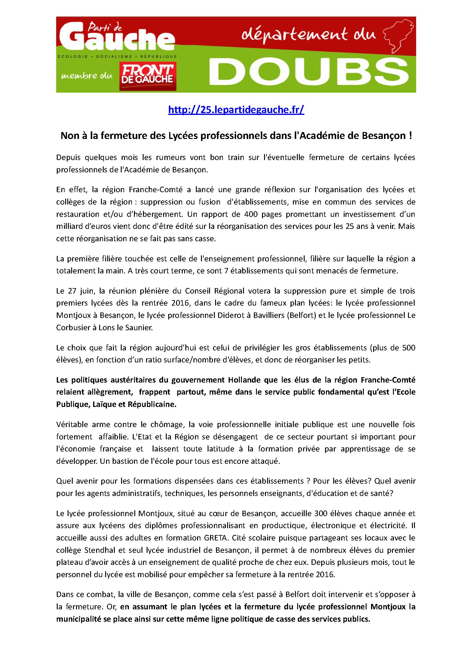 Communiqué de presse Lycée Professionnel Montjoux_Page_1