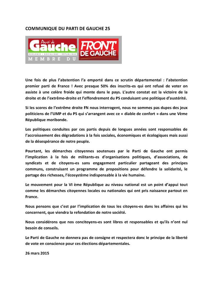 COMMUNIQUE DU PARTI DE GAUCHE 25 26 03 2015-4